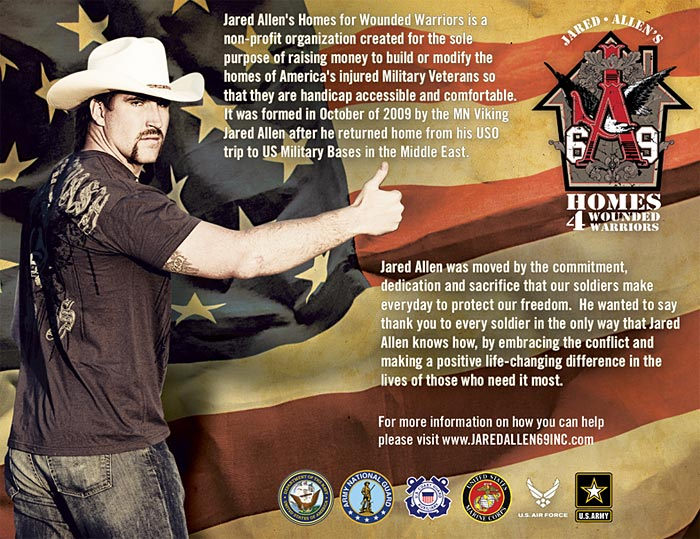 "Jared Allen's ""Homes for Wounded Warriors"""